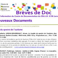 Brèves de doc N°88 -  janvier 2021