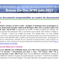Brèves de doc N°93 - juin 2021